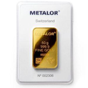 Buy swiss 50g gold bar