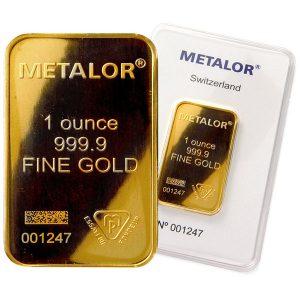buy 1 oz gold bar metalor