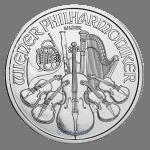 1 oz philharmonic coin obverse