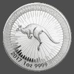 1 oz silver kangaroo reverse