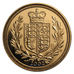 2002 Gold Sovereign Reverse
