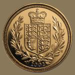 2002 Gold Sovereign Reverse