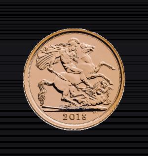 2018 half gold sovereign obverse