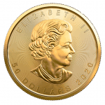 2020 Canadian gold Maple Leaf obverse